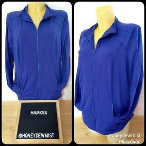 MAURICES In Motion Dark Blue/Purple Zip Sweatshirt